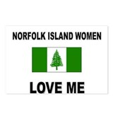 Norfolk Island Women Love Me Postcards (Package of