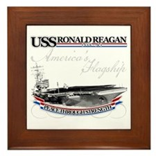 USS Ronald Reagan Framed Tile