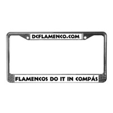 Cute Flamenco License Plate Frame