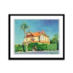 Victorian House Framed Panel Print