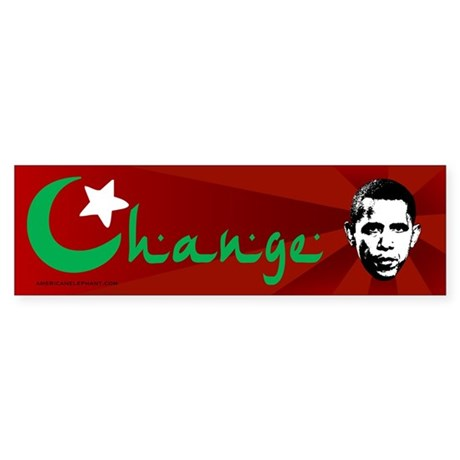 Anti-Obama: Change Bumper Sticker