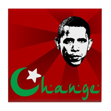Anti-Obama: Change Tile Coaster