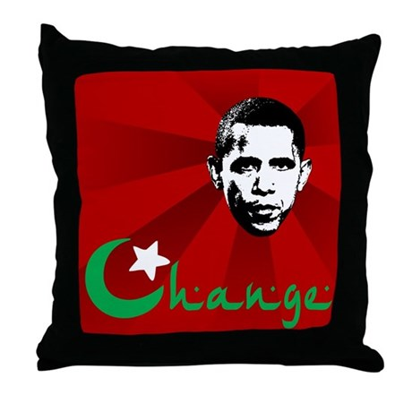 Anti-Obama: Change Throw Pillow