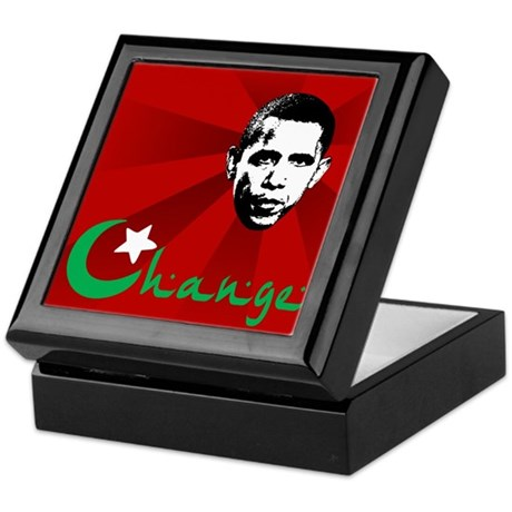Anti-Obama: Change Keepsake Box