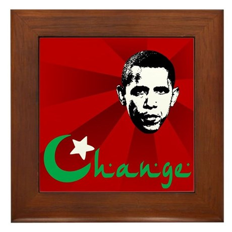 Anti-Obama: Change Framed Tile