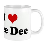 I Love Dee Dee Small Mug