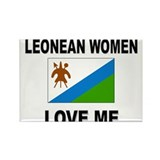 Leonean Women Love Me Rectangle Magnet