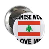 "Lebanese Women Love Me 2.25"" Button (10 pack)"