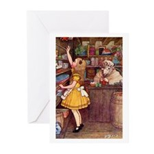 ALICE IN THE SHEEP'S SHOP Greeting Cards (Pk of 20