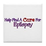 Help find Cure EPILEPSY Tile Coaster