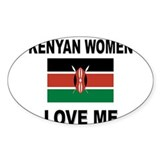 Kenyan Women Love Me Oval Decal