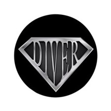 "SuperDiver(metal) 3.5"" Button (100 pack)"