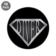 "SuperDiver(metal) 3.5"" Button (10 pack)"