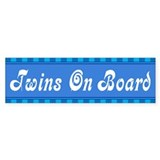 Twins On Board Bumper Car Sticker