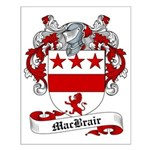 MacBrair Family Crest Small Poster