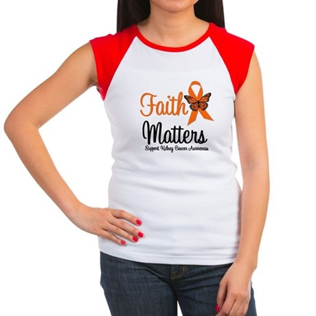 Kidney Cancer Faith Matters Women's Cap Sleeve T-S