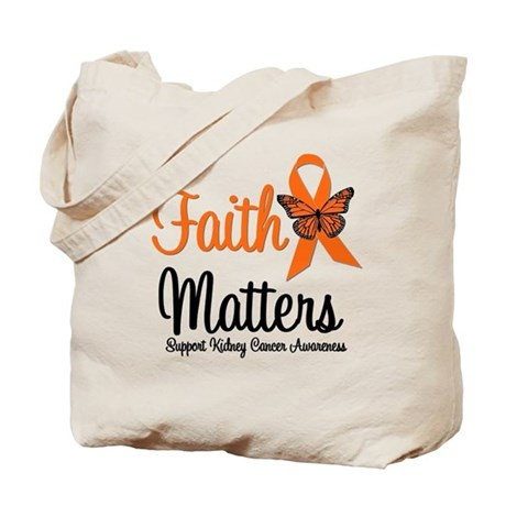 Kidney Cancer Faith Matters Tote Bag