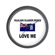 Falkland Islander Women Love Me Wall Clock