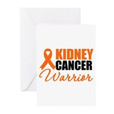 Kidney Cancer Warrior Greeting Cards (Pk of 10)