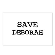 Save Deborah Postcards (Package of 8)