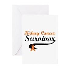 Kidney Cancer Grunge Greeting Cards (Pk of 10)