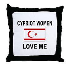 Cypriot Women Love Me Throw Pillow