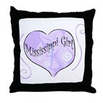 Mississippi Girl Throw Pillow