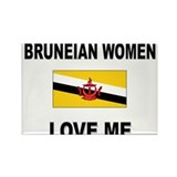 Bruneian Women Love Me Rectangle Magnet (10 pack)