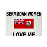 Bermudan Women Love Me Rectangle Magnet (10 pack)