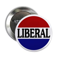 Liberal Red White and Blue 2.25&quot; Button (100 pack)