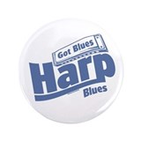 Got Blues Harp 3.5&quot; Button (100 pack)