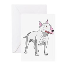 Bull Terrier Greeting Cards (Pk of 20)