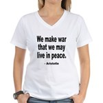 Make War to Live in Peace Quo Women's V-Neck T-Shi