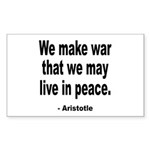 Make War to Live in Peace Quo Rectangle Sticker 1