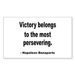 Napoleon on Victory Rectangle Sticker 10 pk)