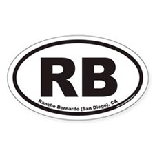 Rancho Bernardo RB Euro Oval Sticker (San/Ranch)