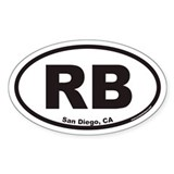 Rancho Bernardo RB Euro Oval Sticker (San Diego)