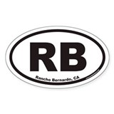 Rancho Bernardo RB Euro Oval Decal