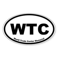 World Trade Center Memorial Oval Decal