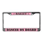 Ballet Dancer On Board License Plate Frame