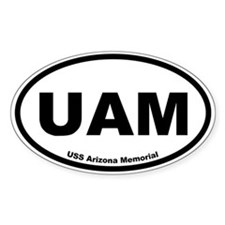 USS Arizona Memorial Oval Decal