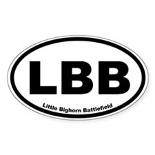Little Bighorn Battlefield Oval Decal