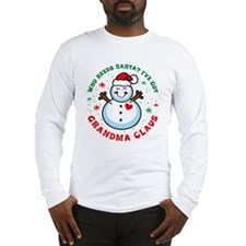 Snowman Grandma Claus Long Sleeve T-Shirt