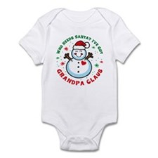 Snowman Grandpa Claus Infant Bodysuit