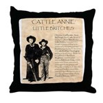 Annie & Jennie Throw Pillow