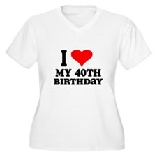 I Heart My 40th Birthday T-Shirt