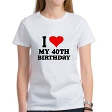 I Heart My 40th Birthday Tee
