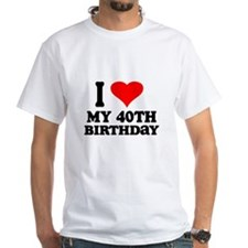I Heart My 40th Birthday Shirt