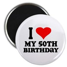 "I Heart My 50th Birthday 2.25"" Magnet (10 pac"