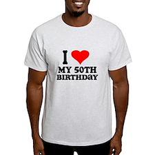 I Heart My 50th Birthday T-Shirt